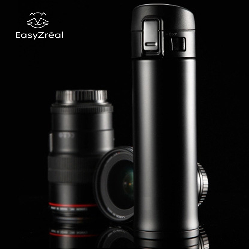 EasyZreal 350/500ml Men Women Bilayer Stainless Steel Insulation Cup Coffee Keep Mug Thermo Cup Water  Bottle Beer Auto Car Cups