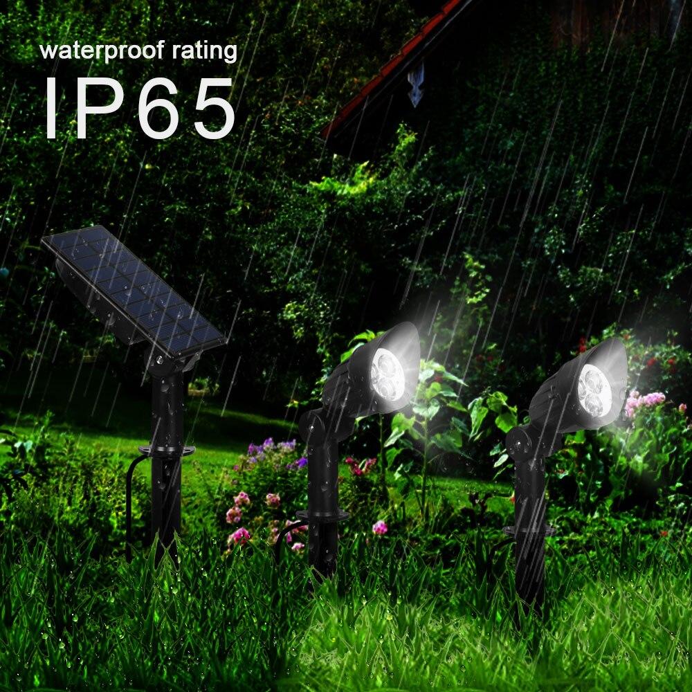 T SUNRISE Cap Spot Lamp 3/7 LED Two Solar Motion Light Outdoor Garden Light Cold White Separately Installed Wall Light IP65
