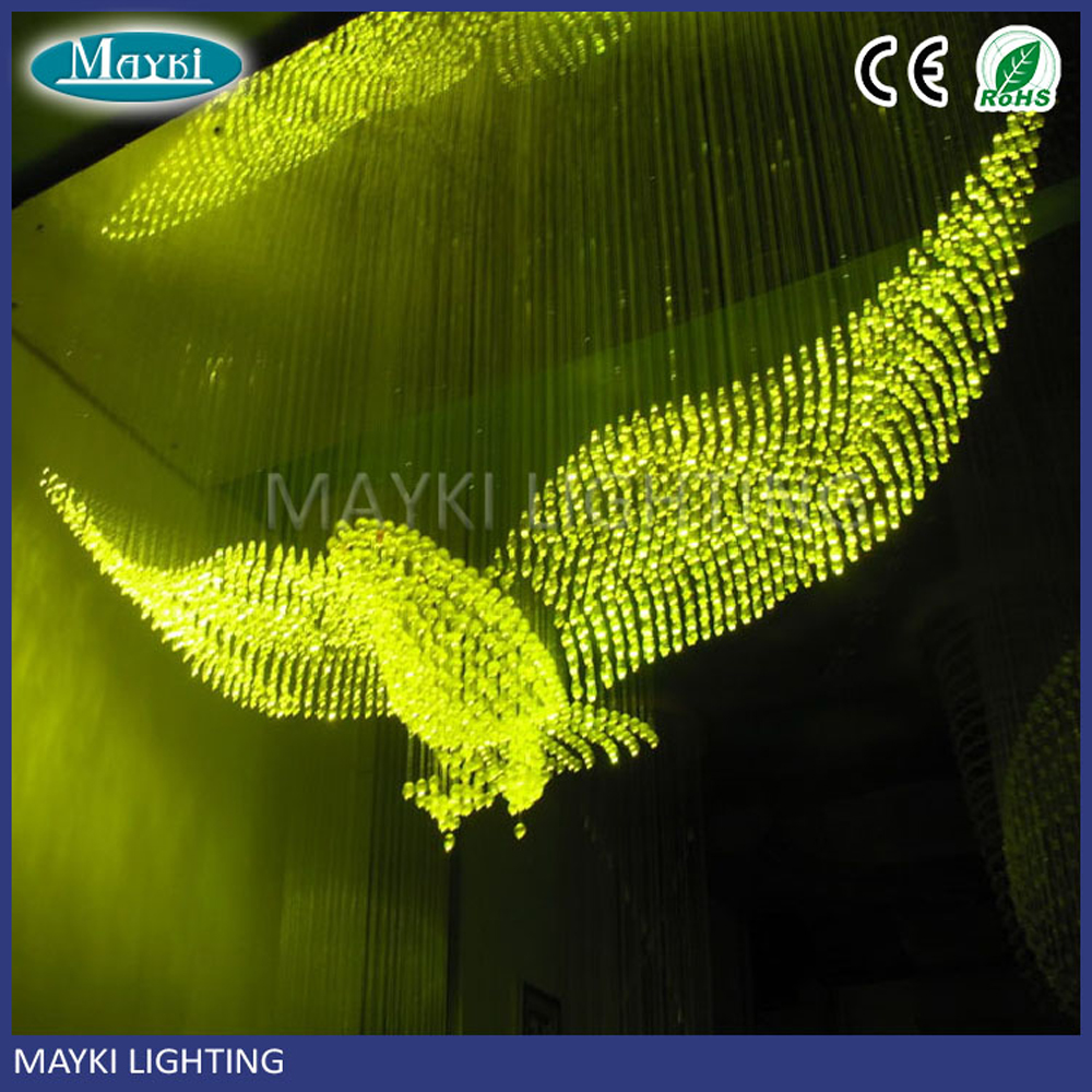 Maykit 150w 4200k Fiber Optic Light Source Twinkle 8 Colors Changing Effect Remote Controller For Chandelier Lighting