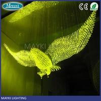 Maykit 150w 4200k lampa światłowodowa źródło Twinkle 8 zmiana kolorów efekt pilota na żyrandol w Oświetlenie światłowodowe od Lampy i oświetlenie na