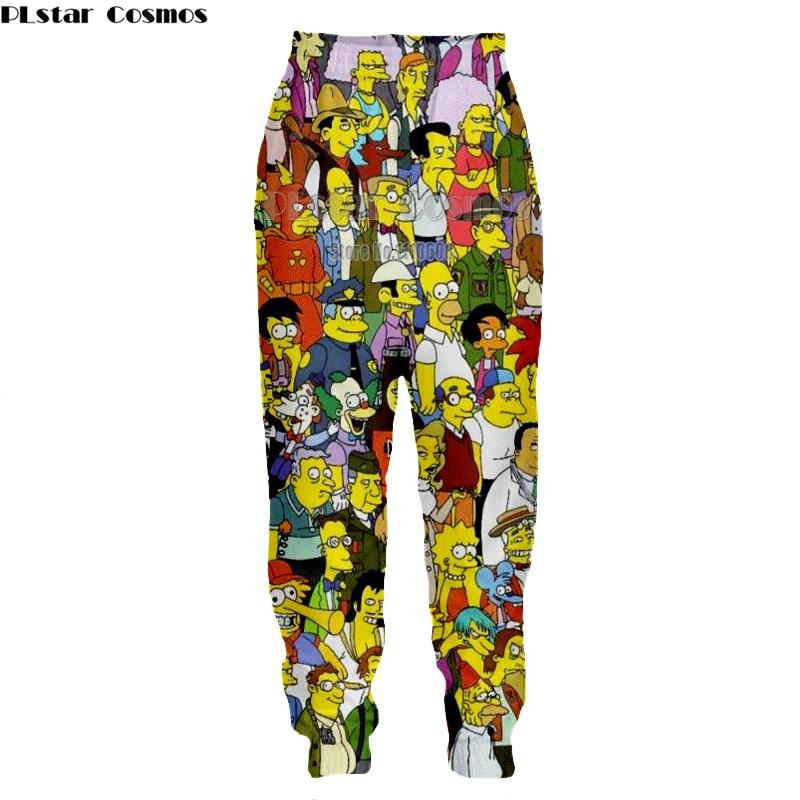 PLstar Cosmos Fashion Women Men Cartoon 3D Print Casual Jogger Pants Novelty Full Length Loose Pant Unisex Trousers Streetwear
