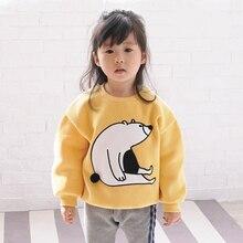 Family Matching Outfit Matching Mother Daughter Plus Velvet Fleece Winter Hoodies for Girls Cartoon Bear T-shirts Family sweater