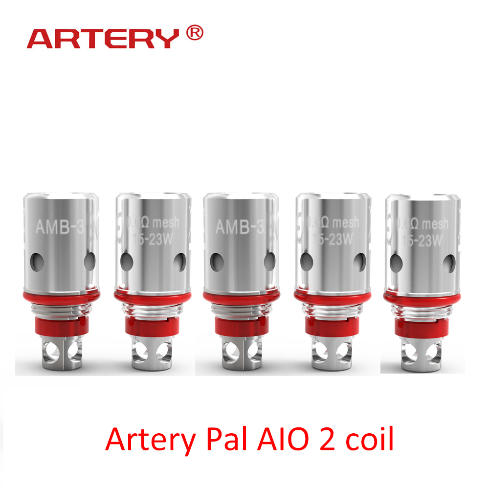 5pcs/box Vape accessories Artery Pal AIO II 0.6 mesh coil/1.2ohm MTL coils For Artery Pal AIO 2 pod Kit5pcs/box Vape accessories Artery Pal AIO II 0.6 mesh coil/1.2ohm MTL coils For Artery Pal AIO 2 pod Kit
