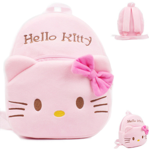 Cute cartoon kids plush school bag kindergarten Children's gifts backpack soft toy Baby kids student bags lovely Hello Kitty