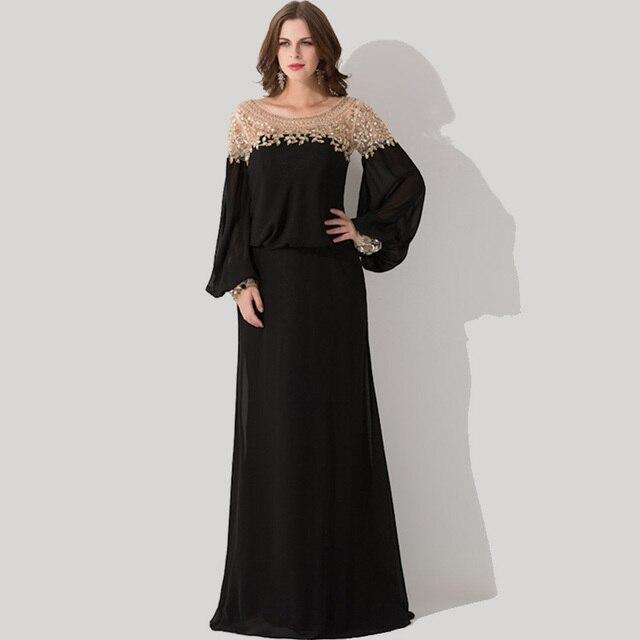 45db167e2bb2 Vestito nero lungo manica lunga – Eleganti modelli di abiti