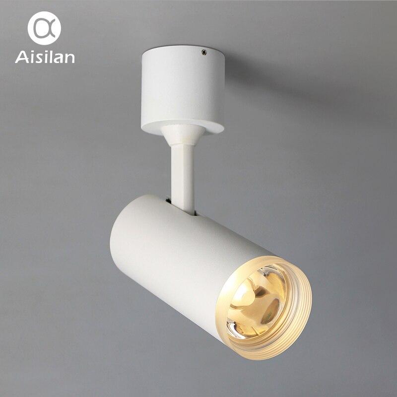 Aisilan Moderne LED Plafond Spots Surface Monté AC85V-240V Blanc/Noir 7 w/9 w pour Vivre La Maison Bureau éclairage Commercial