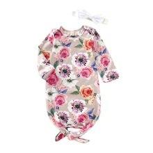 Пеленальное Одеяло для новорожденных; спальный мешок с цветочным рисунком для маленьких девочек; повязка на голову