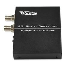 Wiiistar SDI to HDMI Scaler BNC to HDMI Converter with SDI loop Support SD HD 3G-SDI SDI2HDMI hdv sa02 sdi to all scaler converter sd hd 3g sdi with sdi loop out to hdmi dvi vga cvbs analog converter splitter extender