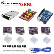 GRBL на основе UNO R3 с ЧПУ щит V3 и DRV8825 шаговый Драйвер комплект контроллер комплект для Workbee OX CNC и других станков с ЧПУ