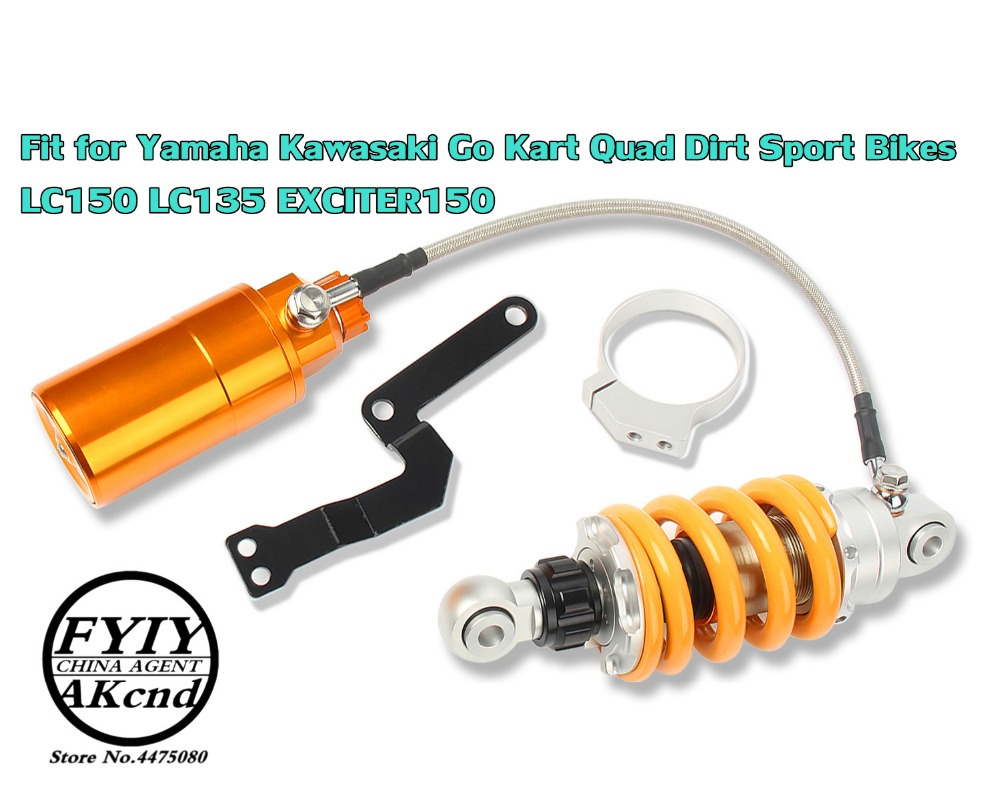 Image 2 - 320mm Universal Motorbike For Yamaha Kawasaki Gi Kart Quad Dirt Sport Bikes KC 150 135 EXCITER 150 205mm Air Shock  Absorbers