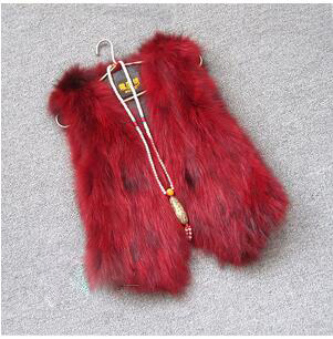 Жилет из натурального меха енота, женский жилет из лисьего меха, короткий дизайн, повседневное пальто из натурального меха, меховая верхняя одежда градиентного цвета - Цвет: 8