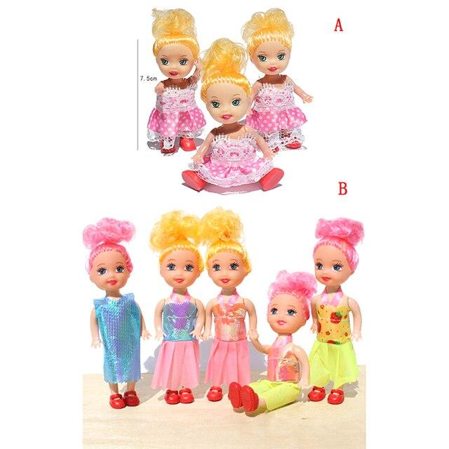 052 16 De Descuento1 Pieza Mini Muñeca Juguetes Pequeño Kelly Muñeca Juguetes Moda Dibujos Animados Princesa Muñecas Hermana Kelly Muñecas Para
