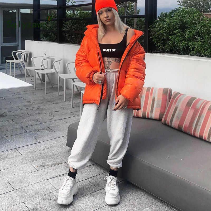 2019 冬の綿害パンツハイウエスト女性のパンツ固体包帯カジュアル緩いズボンスウェットパンツ女性パンタロン