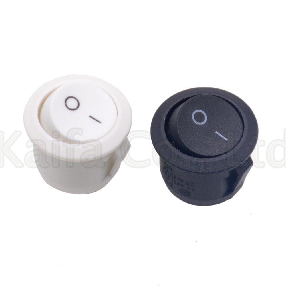 new 5x Plastic Round 2-Pin ON-OFF 12V SPST Rocker Boat Snap Switches CO
