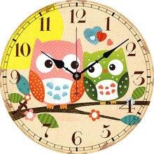 New Wall Clock European American Country Retro Big Owl Series Modern Design Duvar Saati Home Decoration