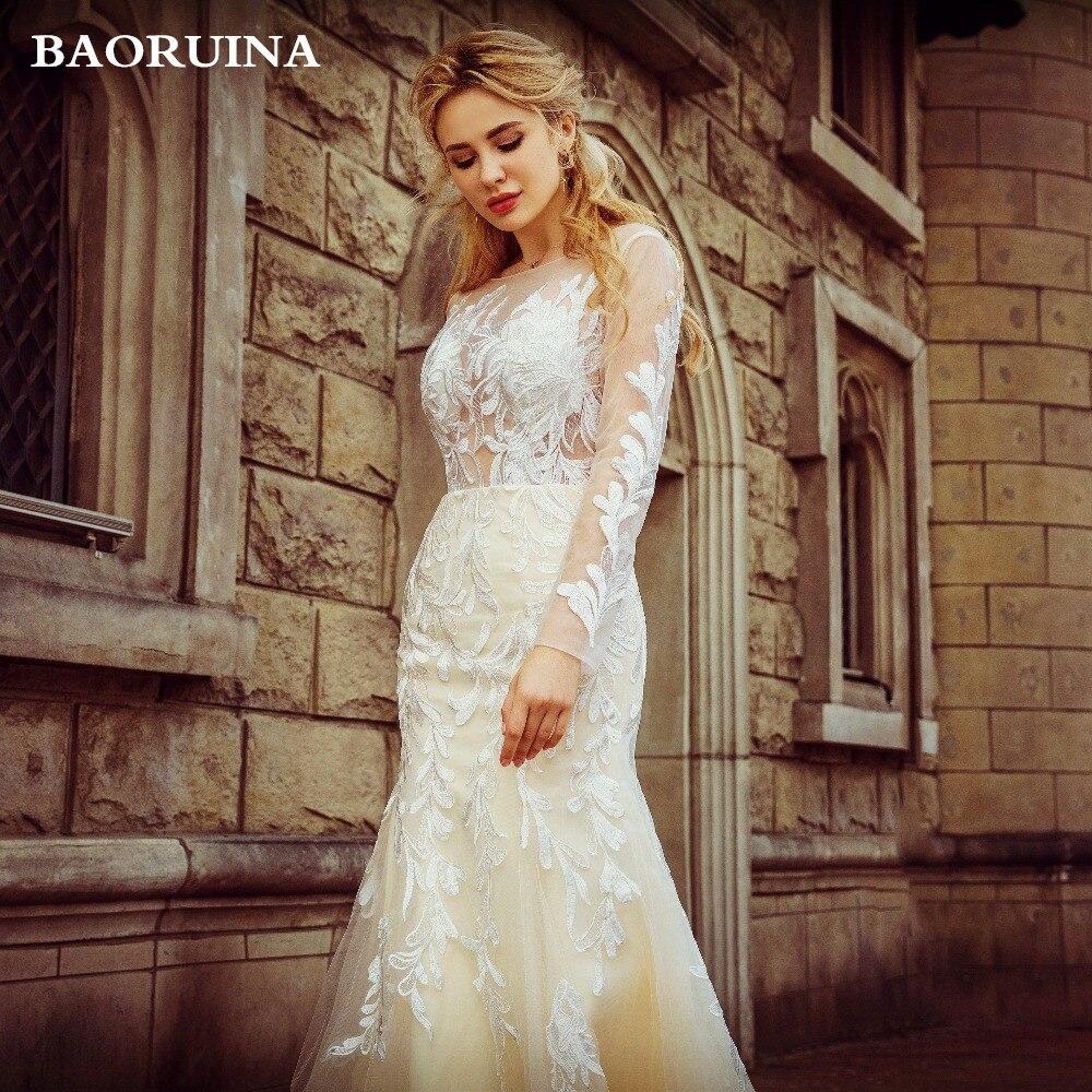 Wedding Mermaid Wedding Dresses Formal Tulle Lace