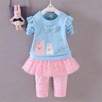 Bibicola Baby Girl Clothing Set Children Clothes Coat Pants 2Pcs Autumn Little Girls Sport Set Spring