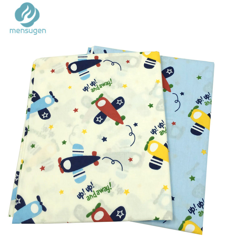 50 160cm aircraft printed cartoon cotton fabric for sewing for Airplane print cotton fabric