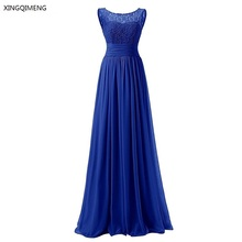 Cheap Bidesmaid Dresses Long 2017 New Chiffon Lace Wedding Party Dress Formal Events Prom Gowns Real Photo