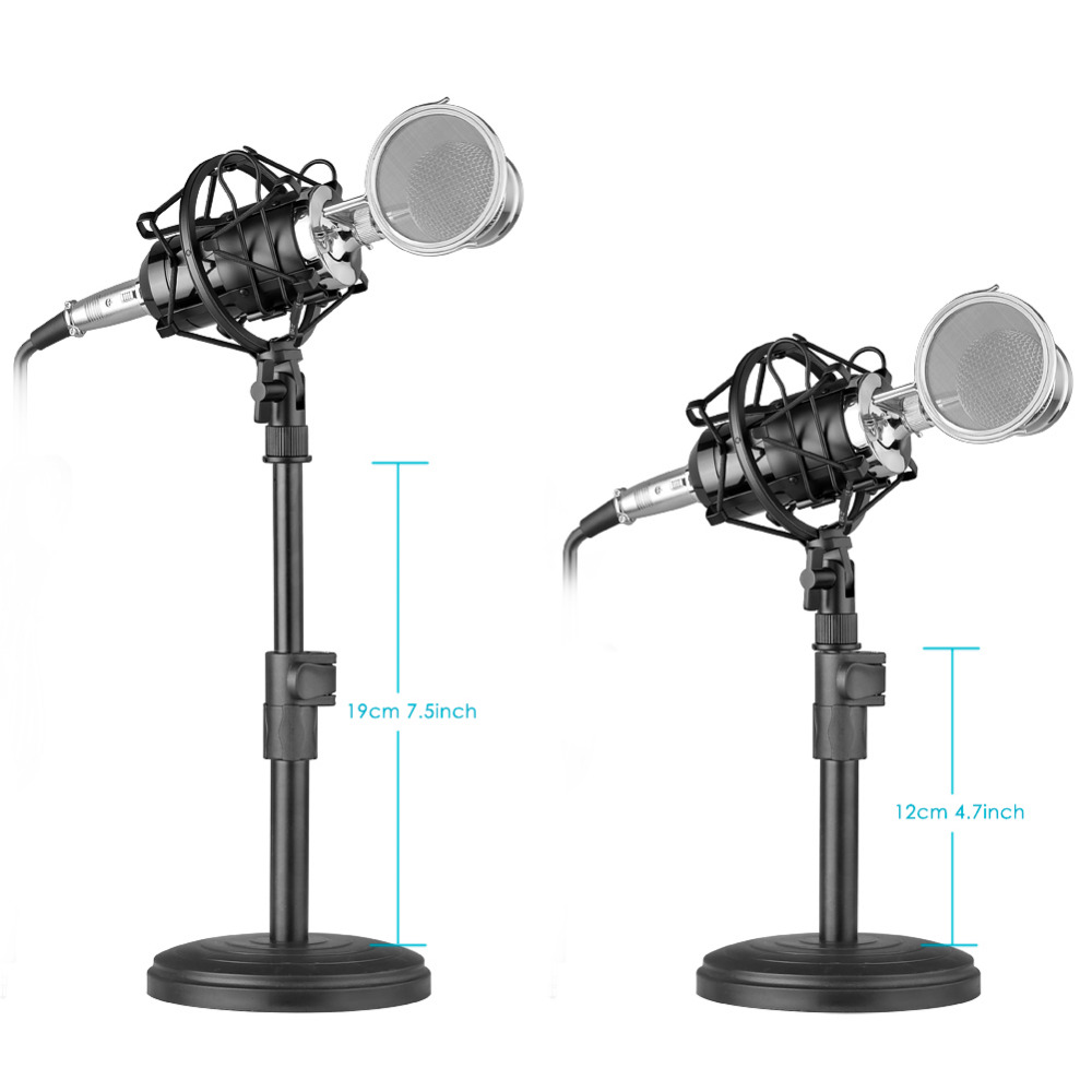 Neewer Desktop Condenser Microphone for Windows Computer and Mac for Studio Broadcast Recording Audio Cable Table Stand ETC