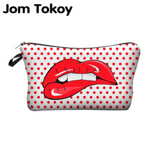 Jom Tokoy 印刷メイク多色でパターンかわいい化粧品 Pouchs 旅行ポーチ女性化粧品(China)