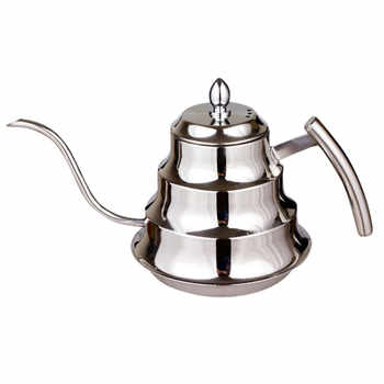 Eworld High Quality Kitchen Coffee Pot Stainless Steel Coffee Drip Kettle Tea Pot, 1.2L Fine mouth coffee pot - DISCOUNT ITEM  14% OFF All Category