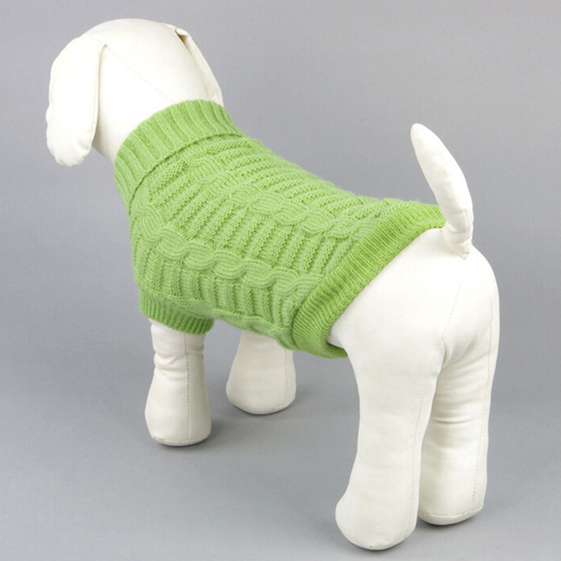 Kisállat kutya macska téli melegebb pulóver ruhák kiskutya jumper kötött ruházat 5 szín