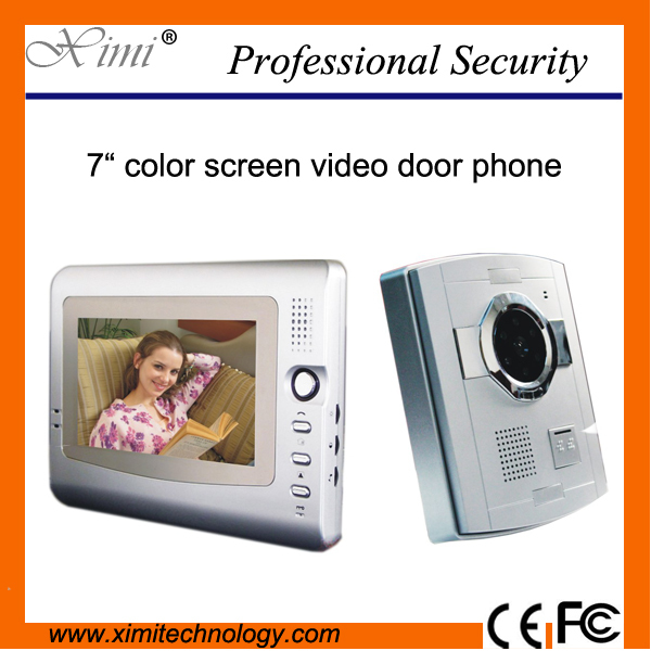 Free shipping good quality video door phone video door bell for villa 7 inch video door bell V7C-S xinsilu new top quality 7video door phone 2 way 4 wire door intercom villa pinhole video door bell w t sd card slot 1to2
