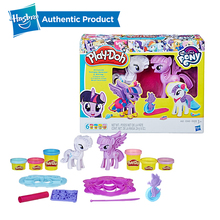 Hasbro Play-Doh My Little Pony Princess Twilight Sparkle and Rarity Light Soft Modeling Clay Play Doh Educational DIY Toy манеж brevi soft play little angel