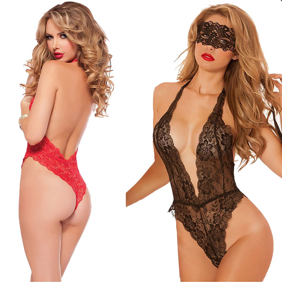 New Women Sexy Lingerie Sex Clothes Hot Porn Lace Dress Backless Bow Underwear Erotic Costume Exotic Apparel  Erotic Clothing