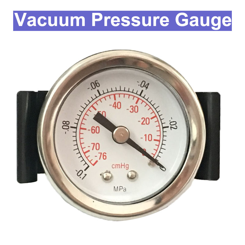 SP 45mm Diameter -0.1Mpa Bracket Vacuum Pressure Gauge Pressure Monitor