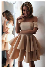 9228b9de1 Champagne encantadora vestidos de noche el hombro 2019 ocasión especial  vestidos de niña de Serena Formal