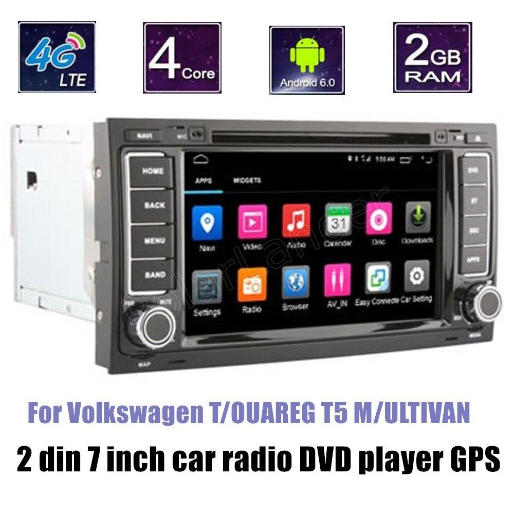 Pour V/olkswagen T/OUAREG T5 M/ULTIVAN support caméra arrière Android 6.0 Quad Core voiture lecteur DVD GPS Radio Bluetooth