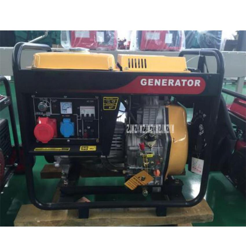 New HQ5GF 5KW Diesel Generator Set High-quality Single/Three Phase Air-cooled Diesel Generator 220V/380V 50Hz 456ml 5(kw/kva) цена