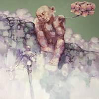 Акрил ручная роспись китайский художник Ян Цзэминь работы середине лета 150X150 см настенные картины искусство абстрактный ГУ бревно Cabin