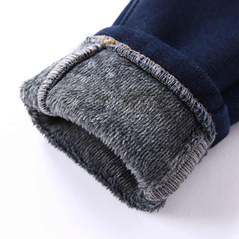 Balabala ילד Todder צמר מרופד למשוך-על ג 'ינס עם Applique בברך ילדי ילדים דנים מכנסיים עם צד כיס התגודדות מותניים