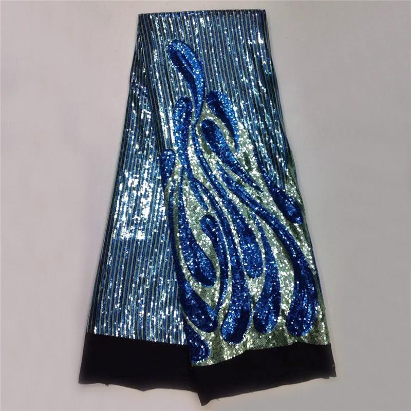 højklassig blonder stof med paljetter, engrossalg afrikansk dobbelt - Kunst, håndværk og syning - Foto 2