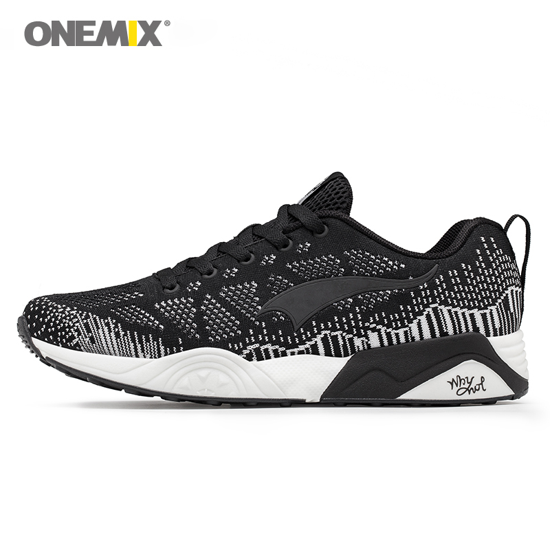 onemix men sport sneakers breathable walking shoes unisex athletic in black outdoor zapatos de hombre size 35-45 factory sales 2017brand sport mesh men running shoes athletic sneakers air breath increased within zapatillas deportivas trainers couple shoes