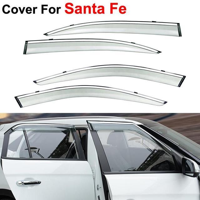 4 шт./лот оконные козырьки для Hyundai Santa Fe 2014 2015 вс дождь наклейки щит автотентами стиль маркизы приюты