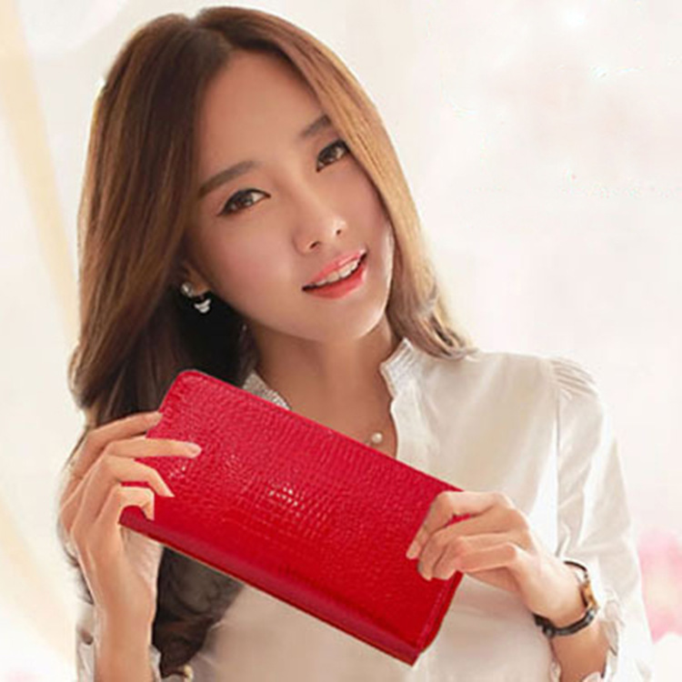 Genuine Leather Women Wallet Female Long Clutch Lady Walet Portomonee Rfid Luxury Brand Money Bag Magic Zipper Coin Purse