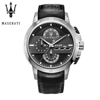 Maserati Fashion Leather Men's Watch Top Brand Luxury Business Watch Clock Retro Men's Mechanical Watch Gift R8716191204