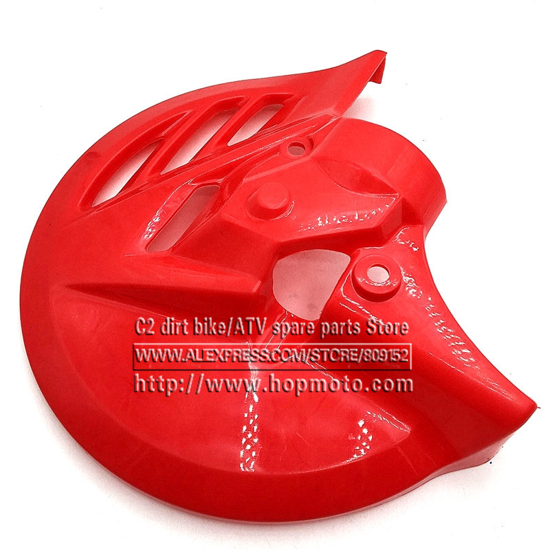 Plastic Front Brake Disc Cover Protector for  Chinese Dirt Pit Bike Fitting 270MM Brake disc Plate  Rotor fitting fastace shock front plastic number plate fender cover fairing for honda crf100 crf80 crf70 xr100 xr80 xr70 style dirt pit bike