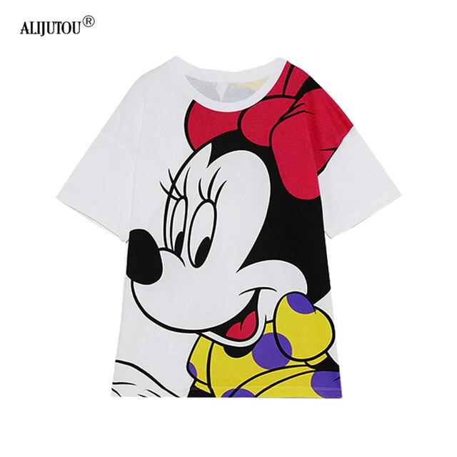 8cfaf2c5efd99 Ucuz Satış Zaraing 2019 Yeni Sevimli Karikatür Mickey T Shirt ...