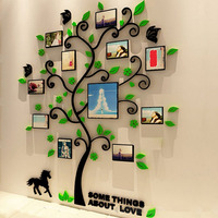DIY Art Wall Poster Home Decor Bedroom Living Room Colorful Picture Photoes Frame Tree 3D Acrylic Decoration Wall Stickers