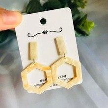 hot deal buy korean trendy earrings white acrylic short&long earrings women's jewelry simple elegent geometric dangle earrings