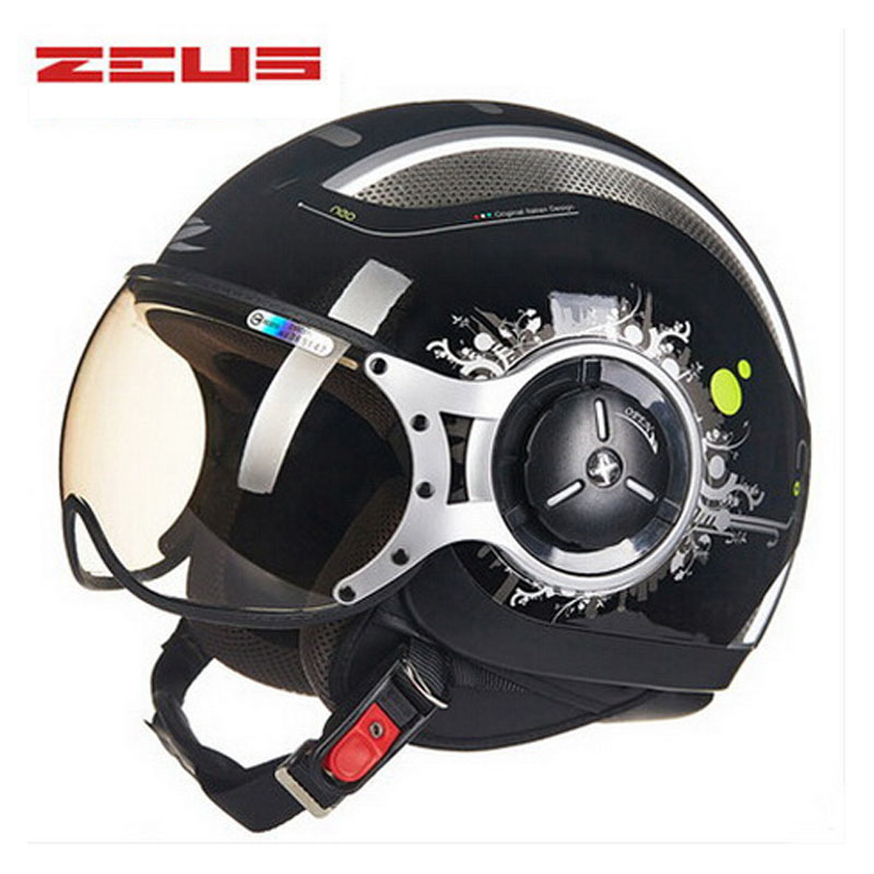 electric motorcycle open face  helmet , ZEUS 218c 3/4  scooter motorbike motorcross helmets for women and men M L XL XXL