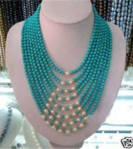 купить FREE SHIPPING>>>@@ > N3392 Beautiful 8row 6mm stone white pearl necklace 17-22 онлайн