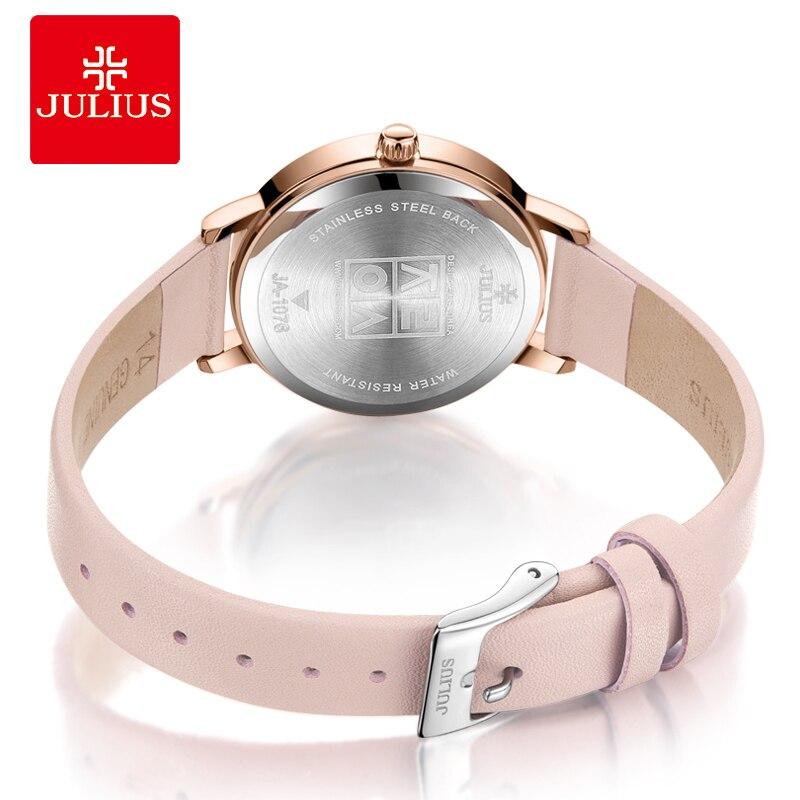 Julius montre Auto jour squelette femmes montre à Quartz haut pour femme marque de luxe femme montre-bracelet fille horloge Relogio Feminino JA-1076 - 4