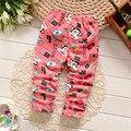 BibiCola newbaby infantil de alta qualidade minnie meninas do bebê legging calças de Inverno crianças quentes impressos calças de veludo criança legging