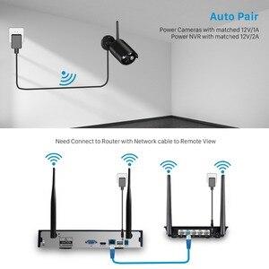 Image 3 - BESDER Беспроводная система NVR HD, система камер домашней безопасности, 4 канала, камера видеонаблюдения, комплект NVR 960P, Wi Fi